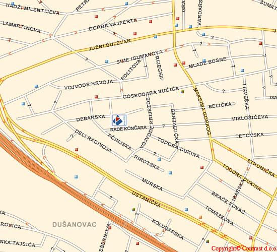 Mapa Beograda Ustanicka Ulica Superjoden